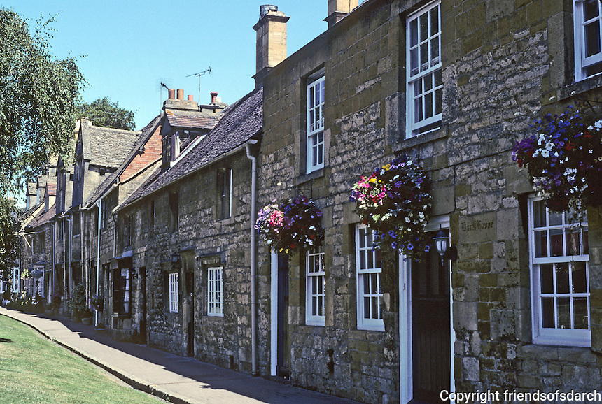 """Chipping Campden: Gloucestershire, High Street #1.  High Street, """"the most beautiful street in England."""" Photo '05."""