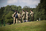 © Joel Goodman - 07973 332324 . 09/07/2017 . Manchester , UK . Army cadets who will be assisting along the route . Race for Life charity run in aid of Cancer Research UK , in Heaton Park . Photo credit : Joel Goodman