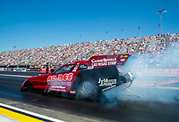 Sep 5, 2020; Clermont, Indiana, United States; NHRA funny car driver Bob Bode during qualifying for the US Nationals at Lucas Oil Raceway. Mandatory Credit: Mark J. Rebilas-USA TODAY Sports