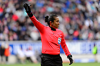 Harrison, NJ - Sunday March 04, 2018: Lucila Venegas during a 2018 SheBelieves Cup match match between the women's national teams of the United States (USA) and France (FRA) at Red Bull Arena.