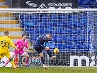 13th March 2021; Global Energy Stadium, Dingwall, Highland, Scotland; Scottish Premiership Football, Ross County versus Hibernian; Billy McKay of Ross County scores the opening goal for Ross County in the 50th minute