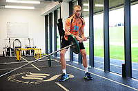 Mike van der Hoorn of Swansea City in the gym during the Swansea City Training at The Fairwood Training Ground in Swansea, Wales, UK. Wednesday 20February 2019