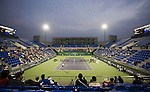 SHANGHAI, CHINA - OCTOBER 10:  General view of the Qi Zhong tennis center court 3 during qualyfing match in Shanghai. The 2009 Shanghai ATP Masters 1000 will be held from 10th to 18th October at the Qi Zhong tennis center.  Photo by Victor Fraile / The Power of Sport Images