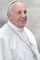 Pope Francis during his weekly general audience in St. Peter square at the Vatican, Wednesday 20 november 2013