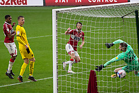 3rd October 2020; Riverside Stadium, Middlesbrough, Cleveland, England; English Football League Championship Football, Middlesbrough versus Barnsley; Jonathan Howson of Middlesbrough scoring Boro's first goal
