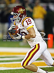 Iowa State Cyclones wide receiver Josh Lenz (19) in action during the game between the Iowa State Cyclones and the Baylor Bears at the Floyd Casey Stadium in Waco, Texas. Baylor defeats Iowa State 49 to 26.