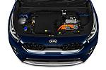Car Stock 2020 KIA Niro-Plug-In-Hybrid EX-Premium 5 Door Hatchback Engine  high angle detail view