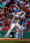 22 June 2019: Toronto Blue Jays first baseman Rowdy Tellez at bat in the third inning against the Boston Red Sox at Fenway :Park in Boston, MA. The Blue Jays rallied to defeat the Red Sox 8-7 in the 2nd game of their 3-game series. Mandatory Credit: Ed Wolfstein Photo *** RAW (NEF) Image File Available ***