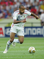 French forward (12) Thierry Henry sprints upfield.  Italy defeated France on penalty kicks after leaving the score tied, 1-1, in regulation time in the FIFA World Cup final match at Olympic Stadium in Berlin, Germany, July 9, 2006.