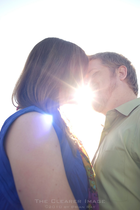 Engagement portraits of Chad Little and Lauren Winterfeld in Fort Worth, TX on Saturday, October 29, 2011.