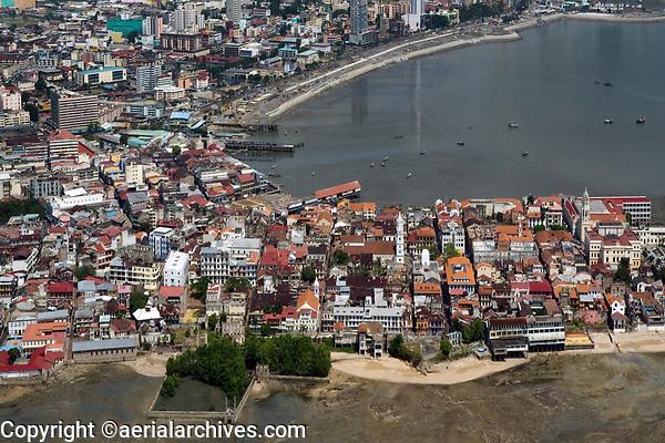 aerial photograph of Casco Viejo, San Felipe, the historic district of Panama City, Panama | fotografía aérea del Casco Viejo, San Felipe, el distrito histórico de la Ciudad de Panamá, Panamá