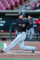 Lansing Lugnuts infielder Gunnar Heidt (2) at bat during a Midwest League game against the Wisconsin Timber Rattlers on April 29th, 2016 at Fox Cities Stadium in Appleton, Wisconsin.  Wisconsin defeated Lansing 2-0. (Brad Krause/Four Seam Images)