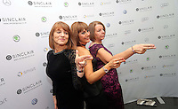 Pictured: Gill Rees, Kelly Thomas and Dawn Rutherford<br /> Re: Swansea City FC Christmas party at the Liberty Stadium, south Wales, UK.