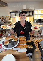 Manager Tina Cheesman at the newly refurbished cafe