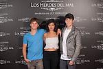 Actors Beatriz Medina, Jorge Clemente and Emilio Palacios pose during `Los heroes del mal´ film presentation in Madrid, Spain. September 09, 2015. (ALTERPHOTOS/Victor Blanco)