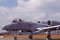US Air Force Fairchild Republic A-10 Thunderbolt II Military Aircraft on Static Display - at Abbotsford International Airshow, BC, British Columbia, Canada