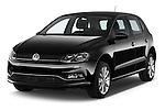 2014 Volkswagen POLO SPORTLINE 5 Door Hatchback 2WD Angular Front stock photos of front three quarter view