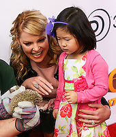 """LOS ANGELES, CA - JANUARY 11: Katherine Heigl and daughter Nancy Leigh Kelley arrive at the World Premiere Of Open Road Film's """"The Nut Job"""" held at Regal Cinemas L.A. Live on January 11, 2014 in Los Angeles, California. (Photo by Xavier Collin/Celebrity Monitor)"""