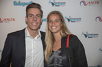 Amsterdam, Netherlands, December 12, 2016, Harbour Club, Tennisser van het Jaar,  Scott Griekspoor and Arantxa Rus<br /> Photo: Tennisimages/Henk Koster