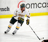 18 October 2009: University of Vermont Catamount forward Matt Marshall, a Sophomore from Hingham, MA, in action during the second period against the Boston College Eagles at Gutterson Fieldhouse in Burlington, Vermont. The Catamounts defeated the Eagles 4-1 to open Vermont's America East hockey season. Mandatory Credit: Ed Wolfstein Photo