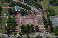 aerial photograph of Centennial Olympic Park, Atlanta, Georgia