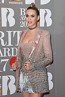 Katy Perry<br /> arrives for the BRIT Awards 2017 held at the O2 Arena, Greenwich, London.<br /> <br /> <br /> ©Ash Knotek  D3233  22/02/2017