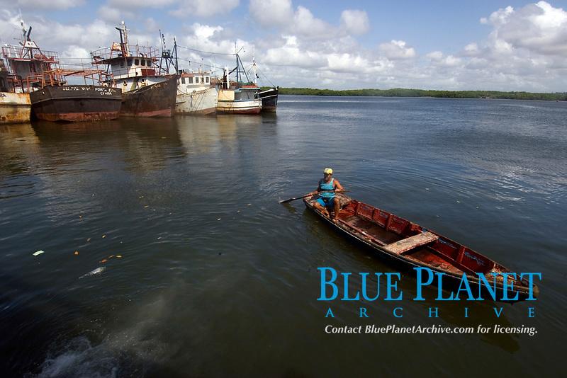 Fishing vessels at port, Natal, Rio Grande do Norte, Brazil