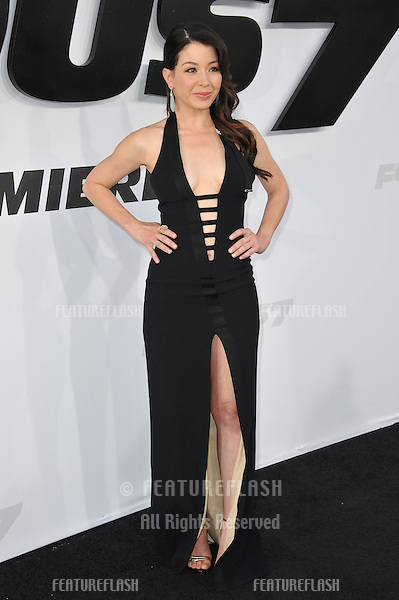 """Katherine Castro at the world premiere of """"Furious 7"""" at the TCL Chinese Theatre, Hollywood.<br /> April 1, 2015  Los Angeles, CA<br /> Picture: Paul Smith / Featureflash"""