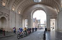 peloton rolling through the Menin Gate (War Memorial)<br /> <br /> 82nd Gent-Wevelgem in Flanders Fields 2020 (1.UWT)<br /> 1 day race from Ieper to Wevelgem (232km)<br /> <br /> ©kramon