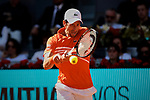 Novak Djokovic during the Mutua Madrid Open Masters match on day eight at Caja Magica in Madrid, Spain.May 11, 2019. (ALTERPHOTOS/A. Perez Meca)