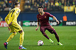 Stephan El Shaarawy of AS Roma fights for the ball with Samuel Castillejo Azuaga of Villarreal CF during the match Villarreal CF vs AS Roma, part of the UEFA Europa League 2016-17 Round of 32 at the Estadio de la Cerámica on 16 February 2017 in Villarreal, Spain. Photo by Maria Jose Segovia Carmona / Power Sport Images