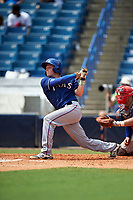 Rich Ciufo (3) of Phillips Academy in Medford, New York playing for the Texas Rangers scout team during the East Coast Pro Showcase on July 30, 2015 at George M. Steinbrenner Field in Tampa, Florida.  (Mike Janes/Four Seam Images)