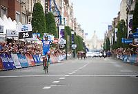 Bjorn Leukemans (BEL/Wanty-Groupe Gobert) wins solo in the streets of Leuven<br /> <br /> GP Jef Scherens 2015