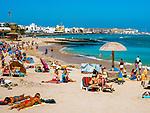 Spanien, Kanarische Inseln, Fuerteventura, Corralejo: Strand | Spain, Canary Island, Fuerteventura, Corralejo: beach