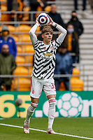 23rd May 2021; Molineux Stadium, Wolverhampton, West Midlands, England; English Premier League Football, Wolverhampton Wanderers versus Manchester United; Brandon Williams of Manchester United takes a throw-in