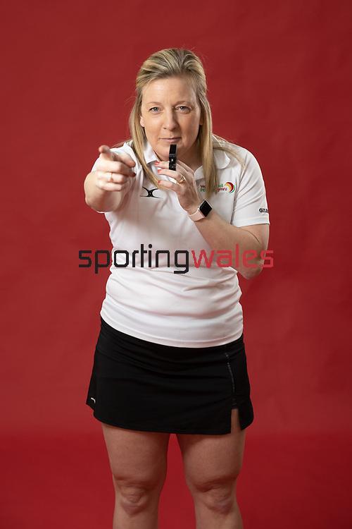 Netball Umpire<br /> 18.01.21<br /> ©Steve Pope<br /> Sportingwales