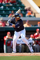 Detroit Tigers designated hitter Victor Martinez (41) at bat during an exhibition game against the Florida Southern Moccasins on February 29, 2016 at Joker Marchant Stadium in Lakeland, Florida.  Detroit defeated Florida Southern 7-2.  (Mike Janes/Four Seam Images)