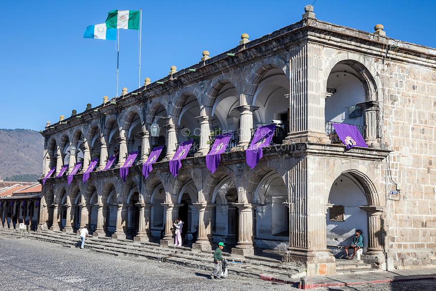Antigua, Guatemala.  The Ayuntamiento, Housing Municipal Government Offices.