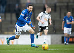 Ayr United v St Johnstone…..08.02.20   Somerset Park   Scottish Cup 5th Round<br />Drey Wright breaks forward<br />Picture by Graeme Hart.<br />Copyright Perthshire Picture Agency<br />Tel: 01738 623350  Mobile: 07990 594431