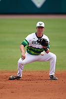 South Florida Bulls second baseman Kevin Merrell (6) during a game against the Dartmouth Big Green on March 27, 2016 at USF Baseball Stadium in Tampa, Florida.  South Florida defeated Dartmouth 4-0.  (Mike Janes/Four Seam Images)