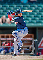 31 May 2018: New Hampshire Fisher Cats infielder Bo Bichette in action against the Portland Sea Dogs at Northeast Delta Dental Stadium in Manchester, NH. The Sea Dogs defeated the Fisher Cats 12-9 in extra innings. Mandatory Credit: Ed Wolfstein Photo *** RAW (NEF) Image File Available ***