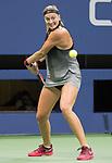 September  3, 2017:  Petra Kvitova (CZE) defeated Garbine Muguruza (ESP)  7-6, 6-3, at the US Open being played at Billy Jean King Ntional Tennis Center in Flushing, Queens, New York. Leslie Billman/EQ