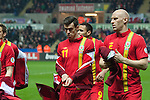 FIFA 2014 World Cup Qualifier - Wales v Croatia - Swansea - 26th March 2013 : Gareth Bale of Wales with team mate James Collins.