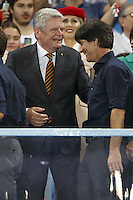 Germany manager Joachim Low and President of Germany Joachim Gauck