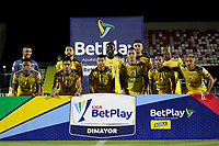 BARRANQUILLA-COLOMBIA, 07-10-2020: Jugadores de Deportivo Pasto, posan para una foto, antes de partido entre Atletico Junior y Deportivo Pasto, de la fecha 12 por la Liga BetPlay DIMAYOR 2020-I jugado en el estadio Romelio Martinez de la ciudad de Barranquilla. / Players of Deportivo Pasto, pose for a photo, prior a match between Atletico Junior and Deportivo Pasto of the 12th date of the quarter semifinals for the Aguila Leguaje I 2019 played at the Romelio Martinez Stadium in Barranquilla city. / Photo: VizzorImage / Jairo Cassiani / Cont.