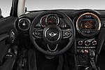 Car pictures of steering wheel view of a 2017 MINI Cooper 3-door 3 Door Hatchback Steering Wheel
