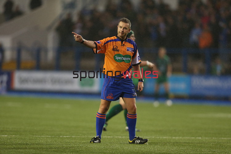 Referee Claudio Blessano<br /> RaboDirect Pro 12<br /> Cardiff Blues v Connacht<br /> Cardiff Arms Park<br /> 13.09.13<br /> <br /> ©Steve Pope-SPORTINGWALES