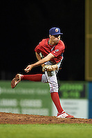 Williamsport Crosscutters relief pitcher Jonathan Hennigan (24) during a game against the Batavia Muckdogs on September 1, 2016 at Dwyer Stadium in Batavia, New York.  Williamsport defeated Batavia 10-3. (Mike Janes/Four Seam Images)