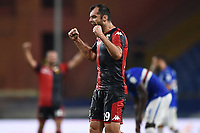 Gorna Pandev of Genoa CFC celebrates the victory at the end of the Serie A football match between UC Sampdoria and Genoa CFC at stadio Marassi in Genova (Italy), July 22th, 2020. Play resumes behind closed doors following the outbreak of the coronavirus disease. <br /> Photo Matteo Gribaudi / Image Sport / Insidefoto