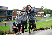 Luciano Narsingh (left) and Jefferson Montero (right) of Swansea City during the Swansea City Training Session at The Fairwood Training Ground, Wales, UK. Tuesday 11th September 2018